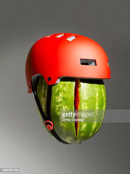 Cracked Watermelon and Helmet