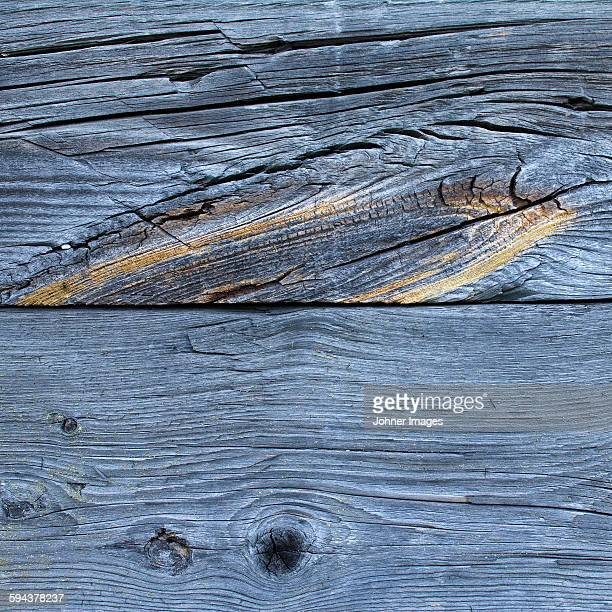 Cracked wood, close-up
