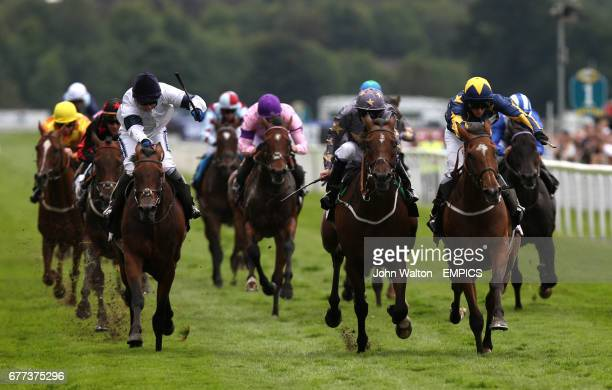Crackentorp ridden by David Allan comes home to win the Racing UK on Sky bet mobile stakes from Kiama Bay ridden by Jamie Spencer