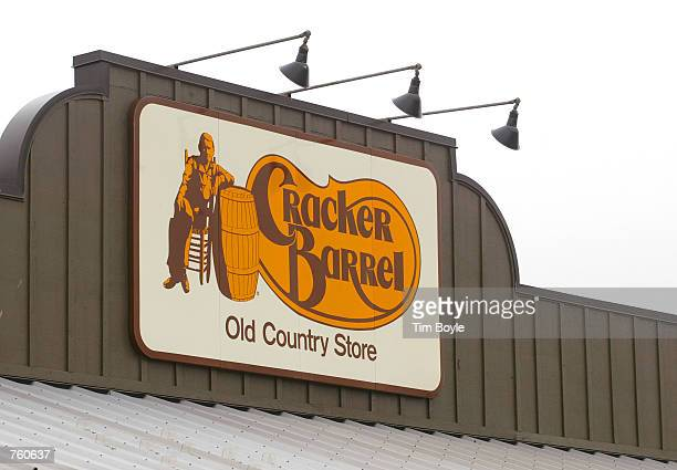 Cracker Barrel Old Country Store sign is visible atop one of its restaurant stores April 12 2002 in Naperville IL The NAACP has joined the racial...
