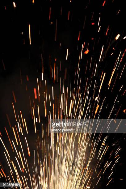 crackers night, diwali festival, india - sparks stock pictures, royalty-free photos & images