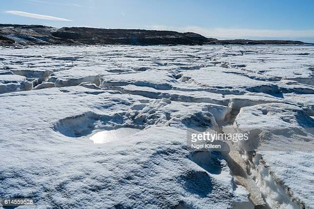 cracking ice, iceland - tundra stock pictures, royalty-free photos & images
