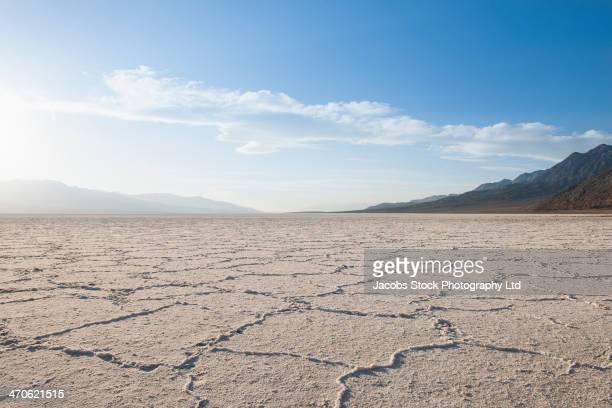 Cracks in dry desert landscape, Death Valley, California, United States