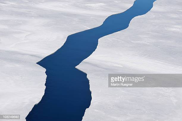 cracks in pack ice. - weddell sea stock photos and pictures