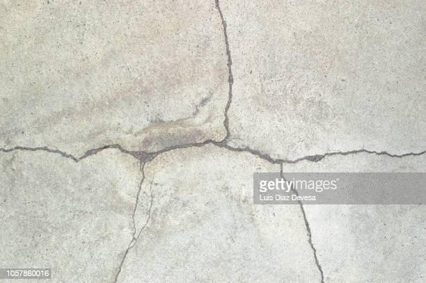 Cracks in the floor concrete
