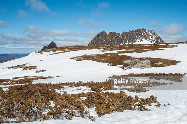 Cradle mountain in the winter season.