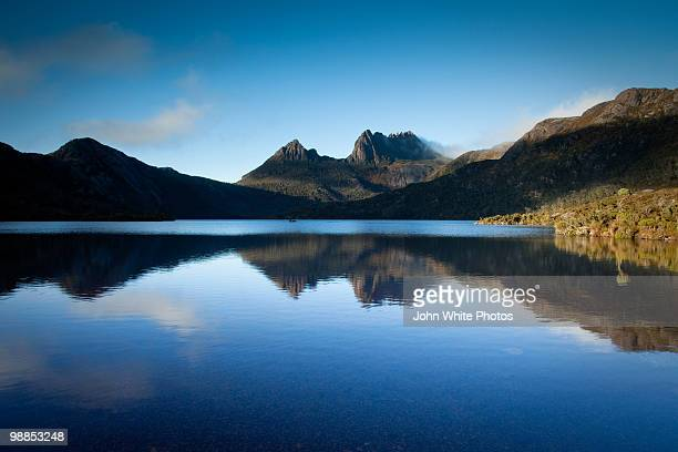 Cradle Mountain reflected in Dove Lake
