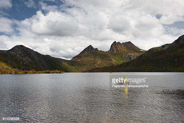 Cradle Mountain with speed boat