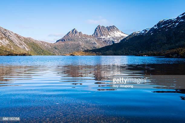 Cradle mountain with the Dove lake in Tasmania.