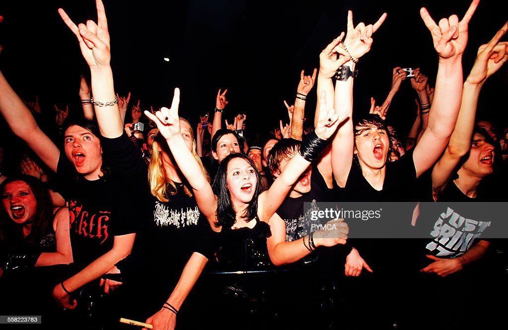 Cradle Of Filth fans, Manchester Academy, UK 2005 : News Photo