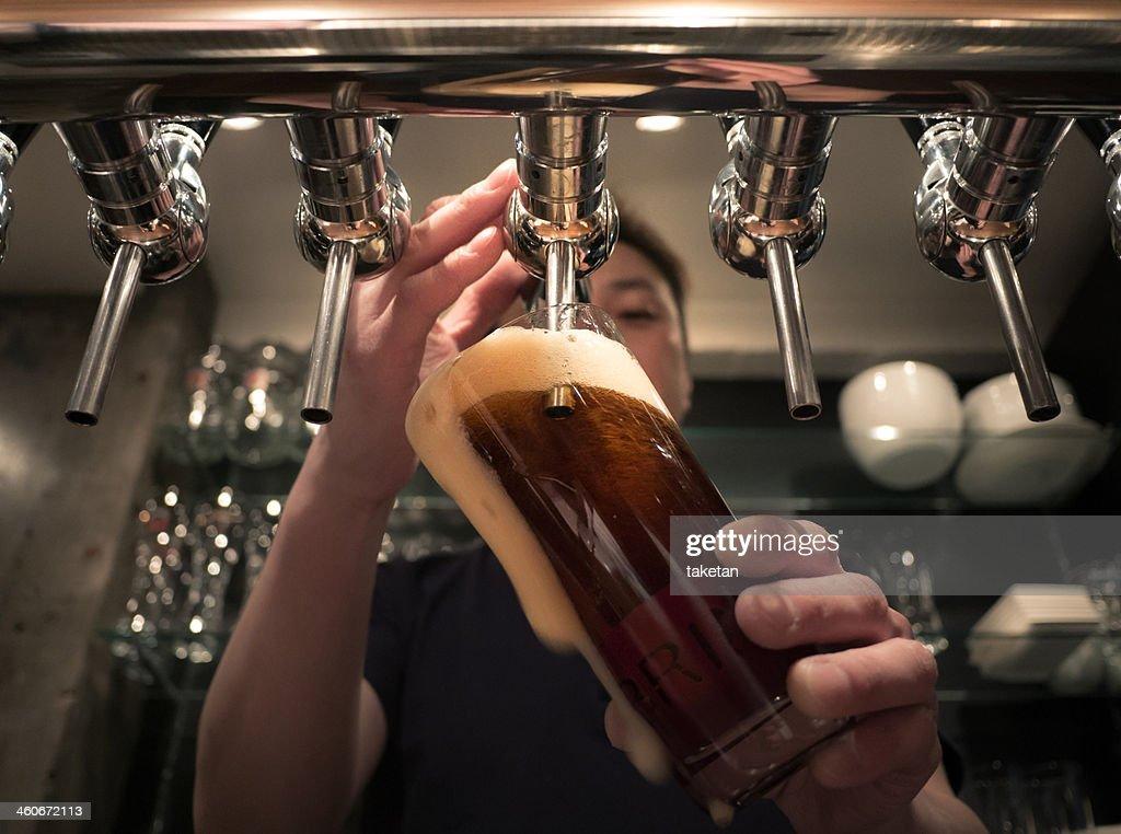 Craft beer bar : Stock Photo