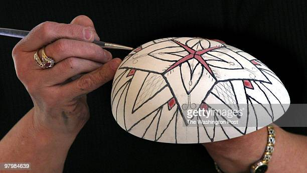 Craft enthusiasts gathered at Paint Your Heart Out a ceramic studio in Occoquan VA to learn intricate design styles used to create Ukranian Easter...