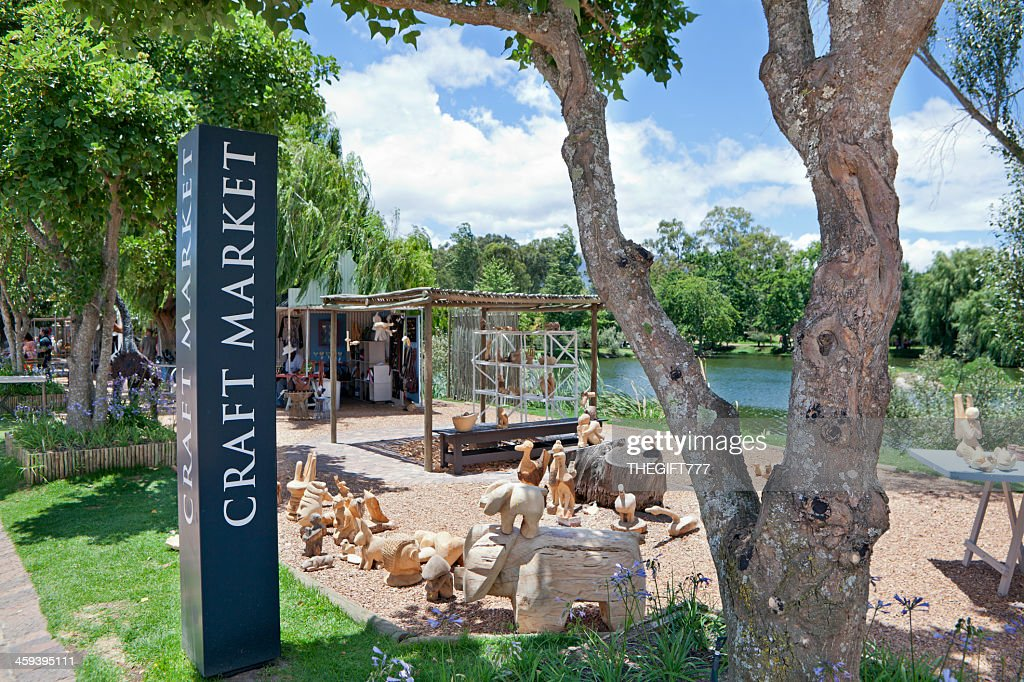 Craft Market at the Spier : Stock Photo
