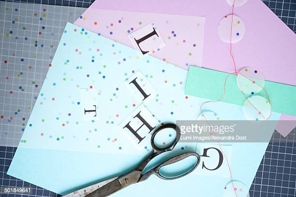 craft supplies, close-up, munich, bavaria, germany - alexandra dost stock-fotos und bilder