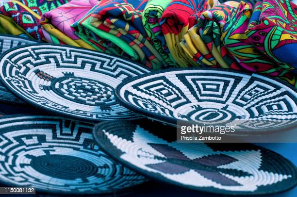 crafts. emberá indigenous tribe, panama - panama stock pictures, royalty-free photos & images