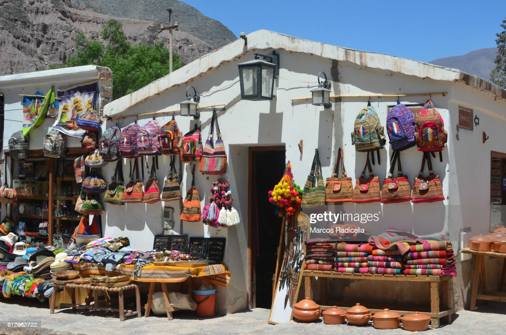 Crafts in Purmamarca, Jujuy Province, Argentina : Stock Photo