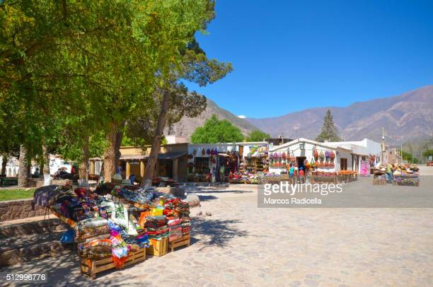 crafts in purmamarca, jujuy province, argentina - radicella stock pictures, royalty-free photos & images