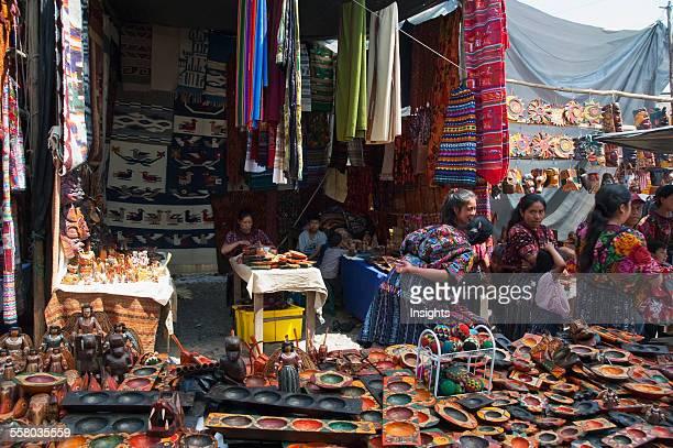 Crafts Stall At The Sunday Market Chichicastenango El Quich