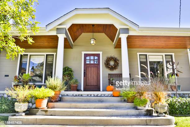 craftsman bungalow house - monrovia california stock pictures, royalty-free photos & images