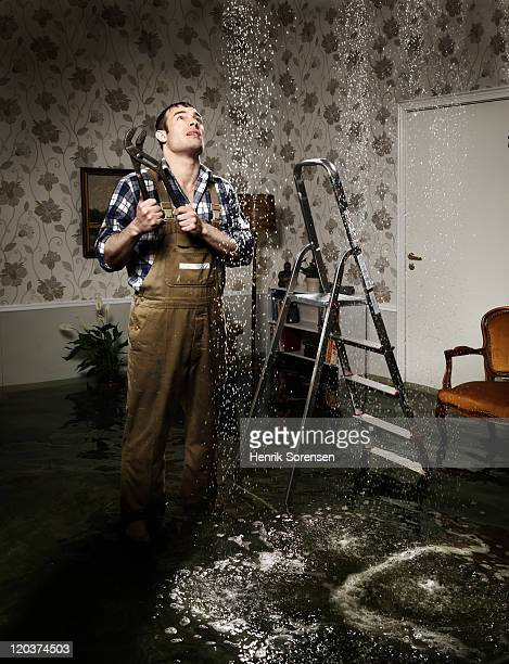 craftsman in flooded room