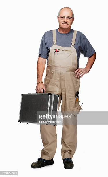 Craftsperson with toolbox, portrait