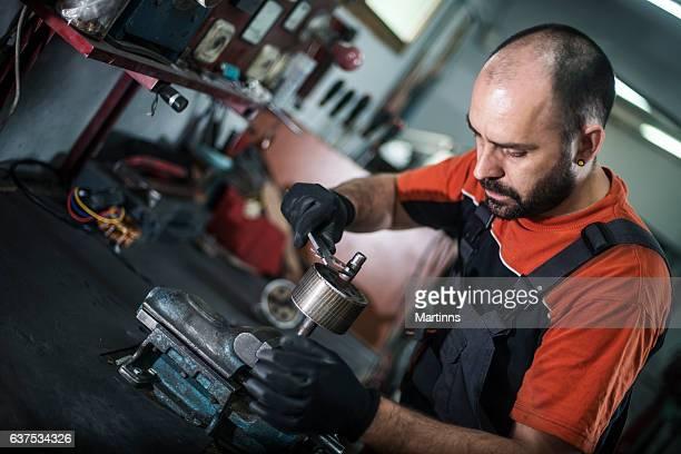 Craftsman machine piece and repairing
