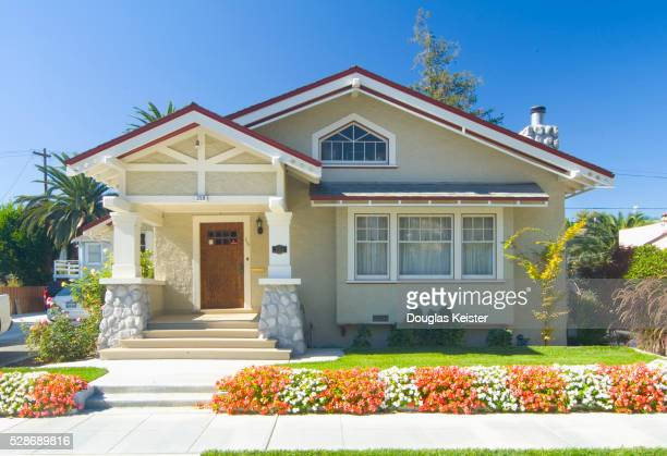 craftsman style bungalow - house exterior stock pictures, royalty-free photos & images