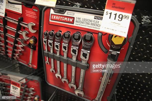 Craftsman tools are offered for sale at a Sears store on January 5 2017 in Oak Park Illinois Sears announced it was selling their Craftsman tool to...
