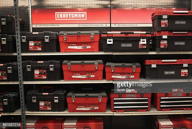 Craftsman tools boxes are offered for sale at a Sears store on January 5 2017 in Oak Park Illinois Sears announced it was selling their Craftsman...