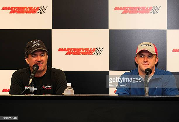 NASCAR Craftsman Truck Series driver Mike Skinner and his son Dustin speak with the media about Dustin making his first start at Martinsville...