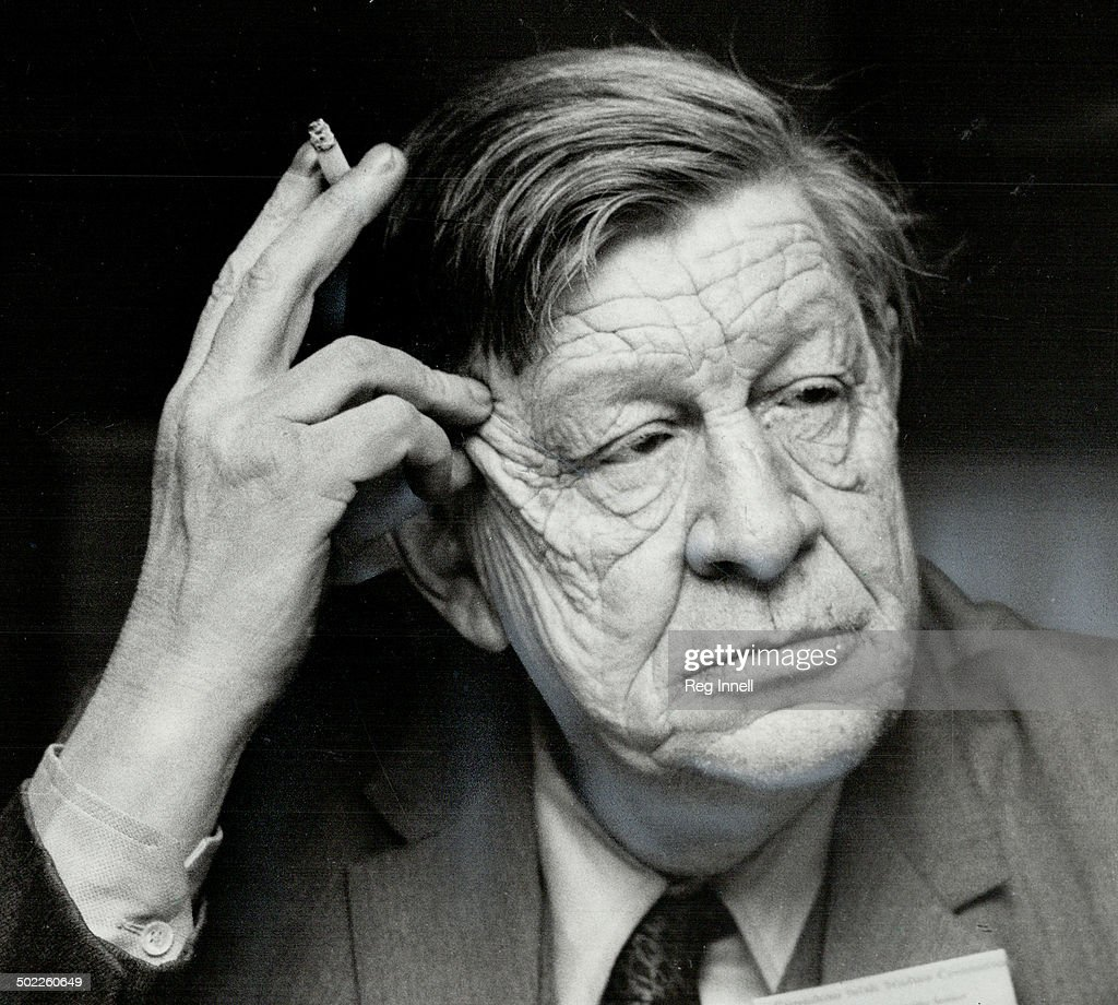 W.H. Auden prized metrical rules because, he said, they prevent automatic responses and force a poet to have second thoughts. He was at a conference at the University of Toronto a few years ago when Star photographer Reg Innell took this exclusive picture.