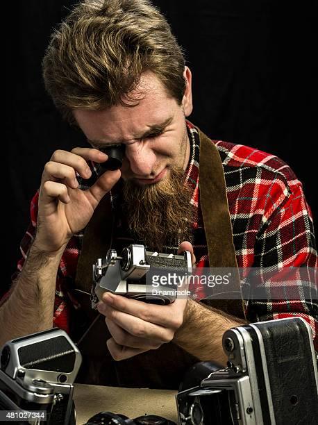 職人の古いカメラ