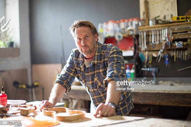 Craftsman working in his workshop