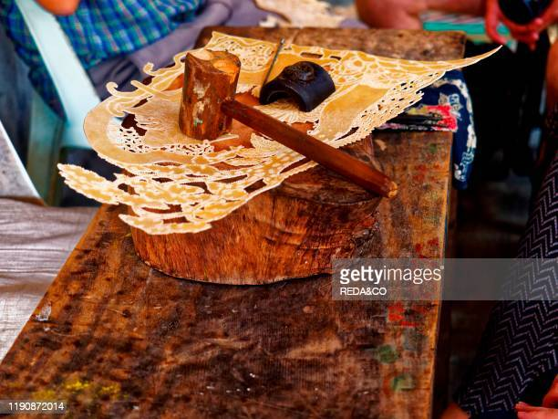 Craftsmen Creators of puppets Yogyakarta Jawa Indonesia Asia