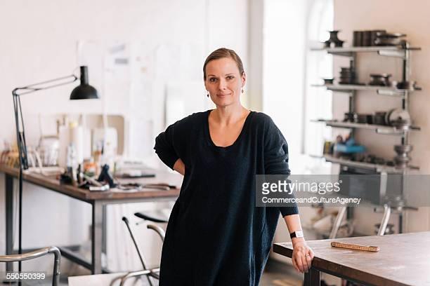 craftswoman in her studio portrait