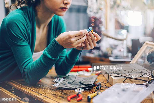 Crafty young woman