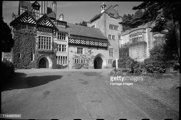 Cragside Rothbury Northumberland circa 1955c1980 A view of the south or entrance front of Cragside showing the full elevation with driveway in the...