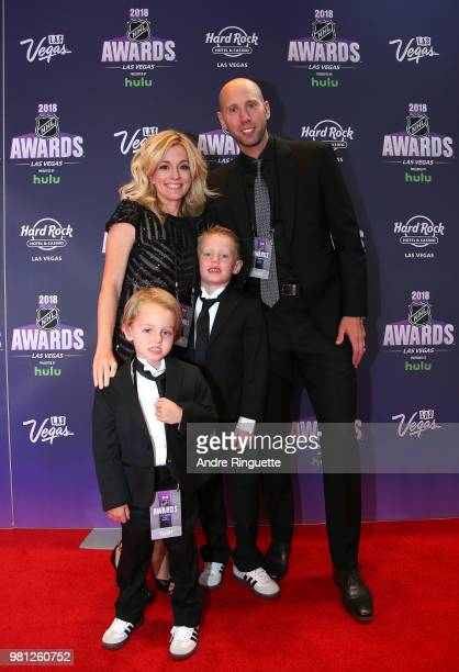 Craig Anderson of the Ottawa Senators and his wife Nicholle and family arrive at the 2018 NHL Awards presented by Hulu at the Hard Rock Hotel Casino...