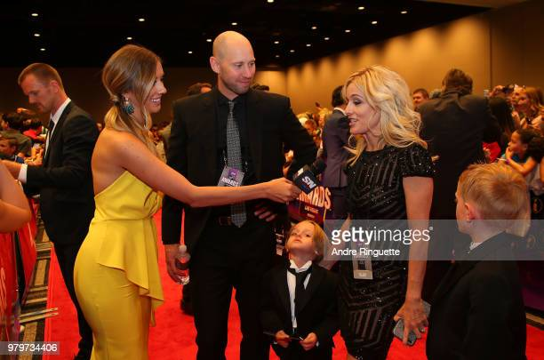 Craig Anderson of the Ottawa Senators his wife Nicholle Anderson and their sons Levi Anderson and Jake Anderson arrive at the 2018 NHL Awards...