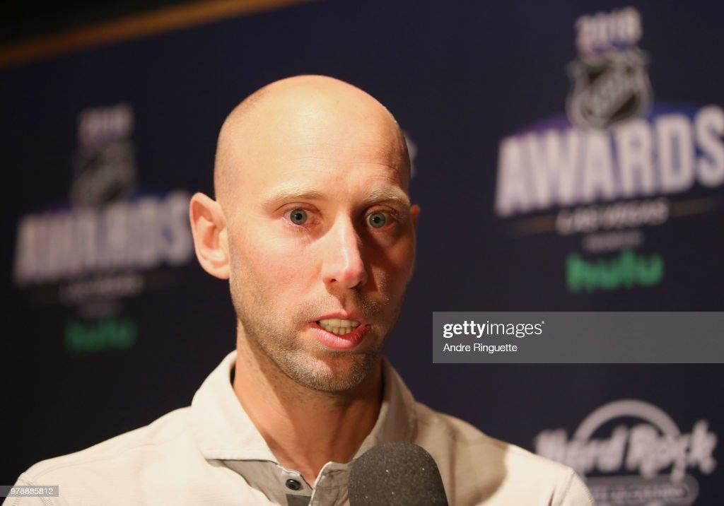 Craig Anderson of the Ottawa Senators speaks during media availability at the Hard Rock Hotel & Casino on June 19, 2018 in Las Vegas, Nevada.