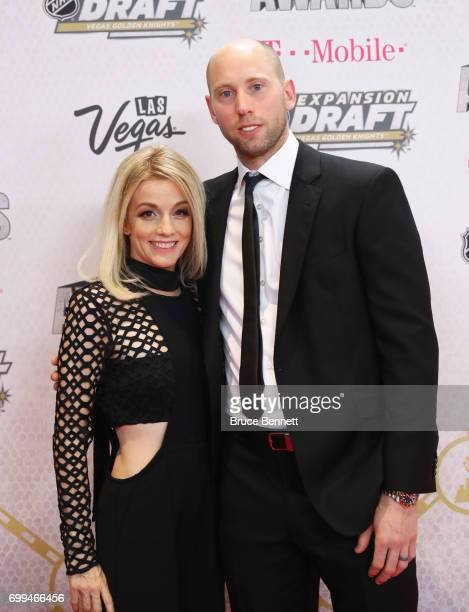 Craig Anderson right of the Ottawa Senators and wife Nicholle Anderson attend the 2017 NHL Awards at TMobile Arena on June 21 2017 in Las Vegas Nevada