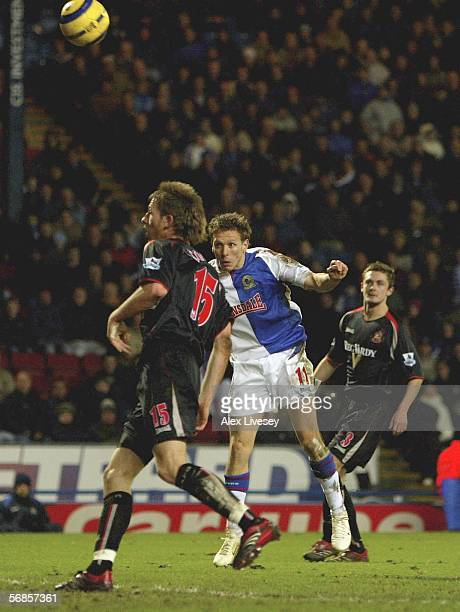 Craig Bellamy of Blackburn Rovers scores his second goal during the Barclays Premiership match between Blackburn Rovers and Sunderland at Ewood Park...