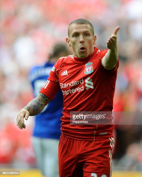 Craig Bellamy of Liverpool during the FA Cup Semi Final match between Liverpool and Everton at Wembley Stadium on April 14 2012 in London England