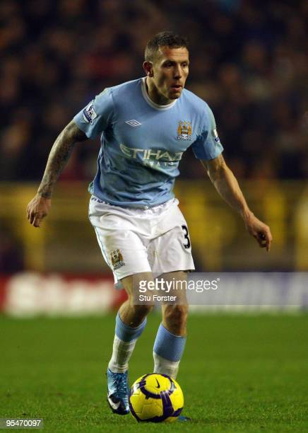 Craig Bellamy of Manchester City in action during the Barclays Premier League match between Wolverhampton Wanderers and Manchester City at Molineaux...