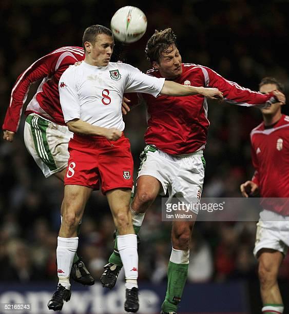 Craig Bellamy of Wales in action during the International Friendly match between Wales v Hungary at the Millennium Stadium on February 5 2005 in...