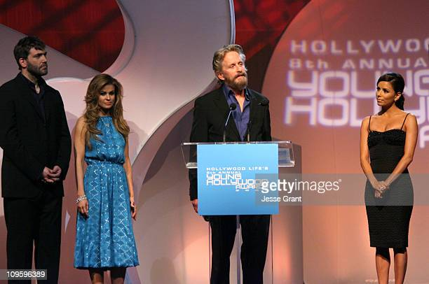 Craig Bierko and Carmen Electra hosts with Michael Douglas winner Young Hollywood's Role Model and Eva Longoria *EXCLUSIVE*
