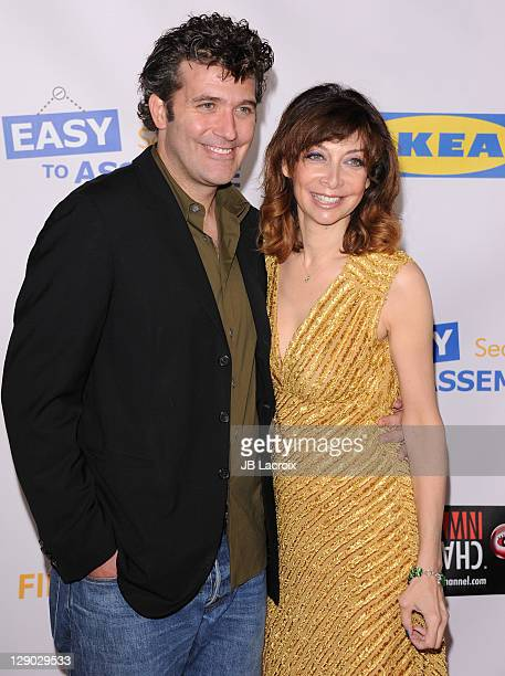 Craig Bierko and Illeana Douglas attend the 'Easy To Assemble' season 3 premiere held at American Cinematheque's Egyptian Theatre on October 10 2011...