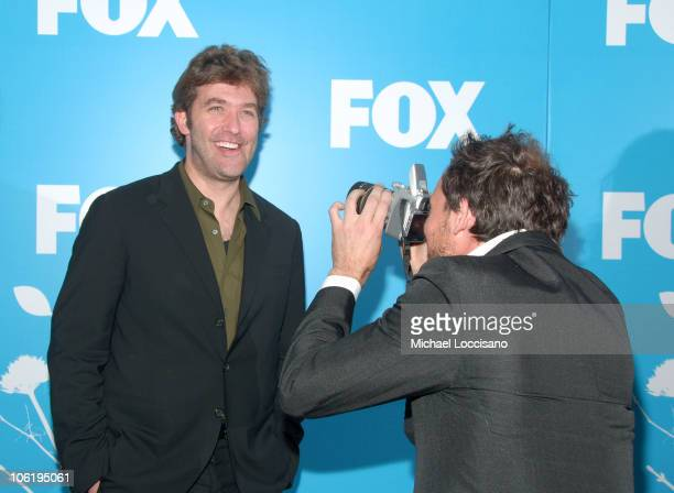 Craig Bierko and Johnny Sneed during The 2007/2008 Fox Upfronts Arrivals at Wollman Rink Central Park in New York City New York United States