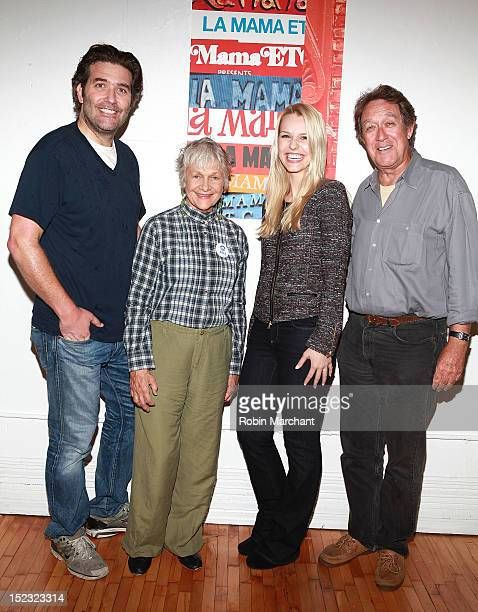 Craig Bierko Estelle Parsons Gia Crovatin and Larry Pine attend the AdA photo call at La MaMa Rehearal Studios on September 18 2012 in New York City