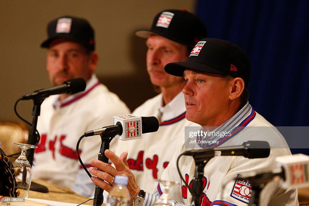 Craig Biggio addresses the media at the press conference for the 2015 Baseball Hall of Fame inductees January 7, 2015 in New York.